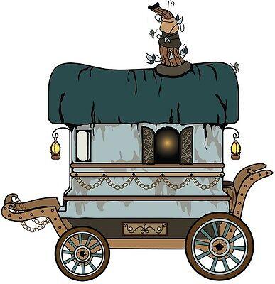 30 Custom Cartoon Gypsy Wagon Personalized Address Labels](Gypsy Custome)