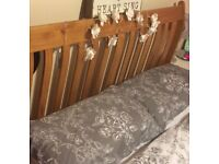 Sleigh style bed