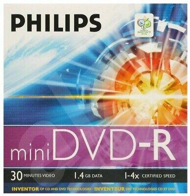 Phillips 20 (4x5)  Rohlinge Mini DVD-R (8cm) 1,4 GB im Jewelcase