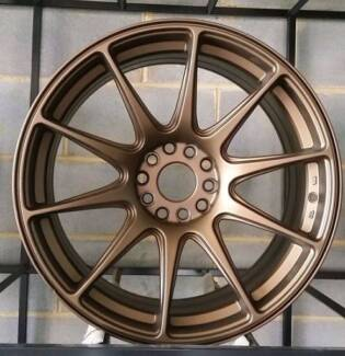 MATT BRONZE 17 INCH WHEELS 527 XXR PACKAGE LAST SET SUBARU WRX Banksia Rockdale Area Preview