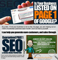 Toronto SEO leader. . .We'll Put Your Site on Top of Google!
