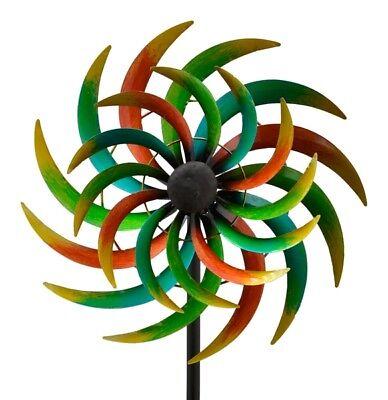 XXL Windrad * NOA * ArtFerro Windspiel Gartenstecker Gartendeko Metall H170  Ø42