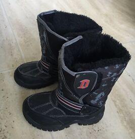 Darth Vader kids winter snow boots Star Wars 9 infant warm fur lined shoes