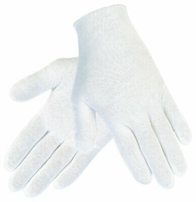 White Cotton Work Gloves Soft Thin Coin Jewelry Silver Inspection Handling Us