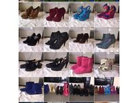 For sale loads lady's shoes all size 5 job lot for sale