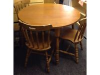 Oak table and 3 chairs free delivery