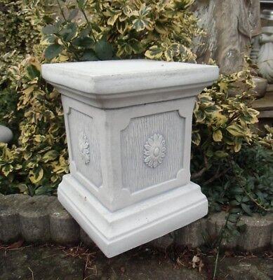 Sockel für Gartenfiguren, Steinguss, 25 cm, Säule, Statue, Betonsäule Gartendeko