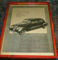 1937 Ford V8 advertisement -mounted, ready to display