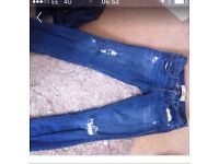 Hollister jeans small .