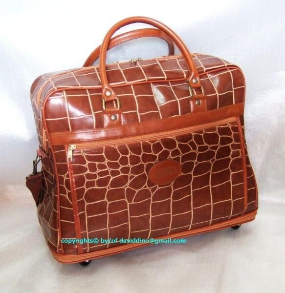 """~~~ VeRy ClaSSy """"CroCoDiLe HyDe"""" Cabin / LuGGage Bag   only $48 ~~~"""