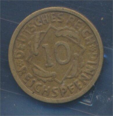 Deutsches Reich Jägernr: 317 1926 G sehr schön 1926 10 Reichspfennig (7879712