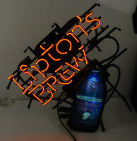 Large Neon Sign Genuine Lipton's Brew Ice Tea - WE SHIP