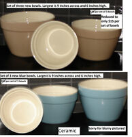 cannisters, casseroles, bowl and serving sets,martini glasses +