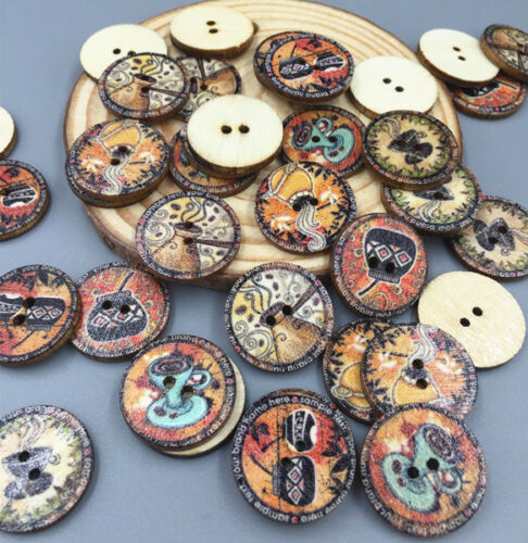 Crafts retro cup wooden buttons sewing scrapbooking for Decorative pins for crafts