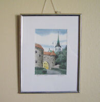 Small Framed Print Signed by Artist E. Tootl Perfect!