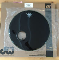 "Bass drum head Remo PS3 18"" Ebony COMME NEUVE/LIKE NEW!"