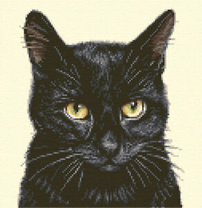 Black Cat Counted Cross Stitch
