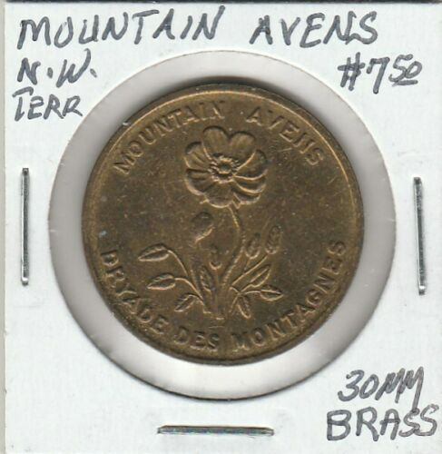 Token - NW Territory, Canada - Mountain Avens - 30 MM Brass