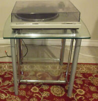 DENON 2.0 A/V, TECHNICS Turntable w/ Stand, MISSION speakers