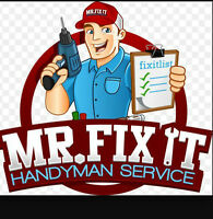 ((((  HANDYMAN AVAILABL  )))) Small job start 60$ (647-289-3114)