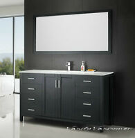 ⎷⎛Contemporary Bathroom Vanity & Cabinet Urban Flare UF60S