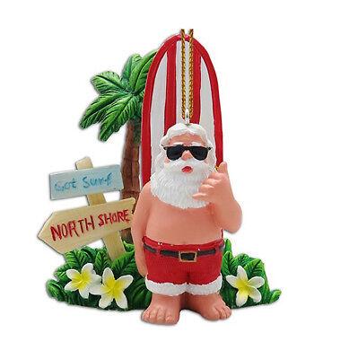 Hawaiian Christmas Ornaments Santa Surfer Got Surf North Shore Poly Resin Hawaii ()