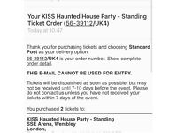 KISS FM haunted house party tickets