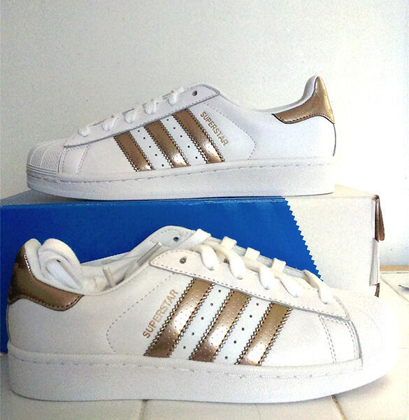 ladies adidas superstar rose gold trainers size uk 6 eu 39. Black Bedroom Furniture Sets. Home Design Ideas