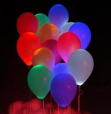 5 PALLONCINI CON LED LUMINOSI MULTICOLORE colori misti