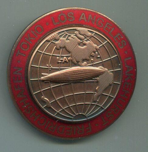 German World War II Graf Zeppelin Tokio Los Angeles Lakehurst Tour Badge