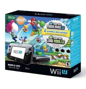 Wii U Deluxe Set: Super Mario Bros- U and New Super Luigi U