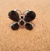 Onyx & Silver Butterfly Ring