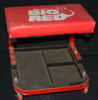 Big Red rolling chair with tool storage under seat
