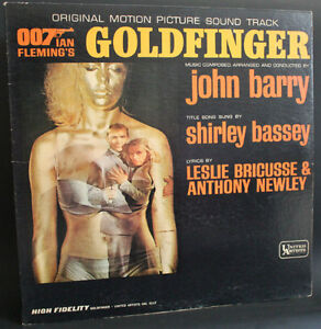 007 GOLDFINGER SOUNDTRACK LP (James Bond) Record Album 1964
