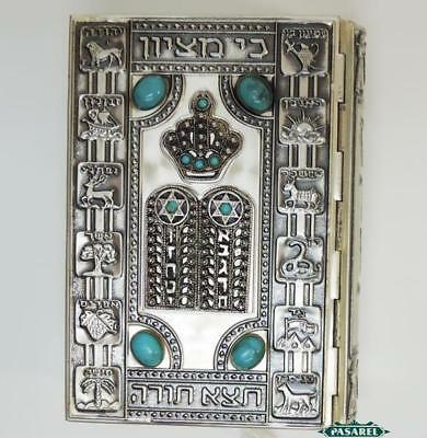 Bezalel Style Silvered Covered Prayer Book Siddur After Zeev Raban Israel 1966 for sale  Shipping to United States