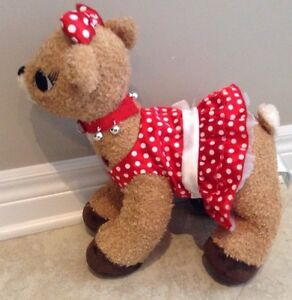 Build a Bear Rudolph Red Nose Reindeer Girl Friend Clarice Light London Ontario image 3