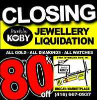 Jewellery Liquidation! Up to 80% off! Closing sale!!