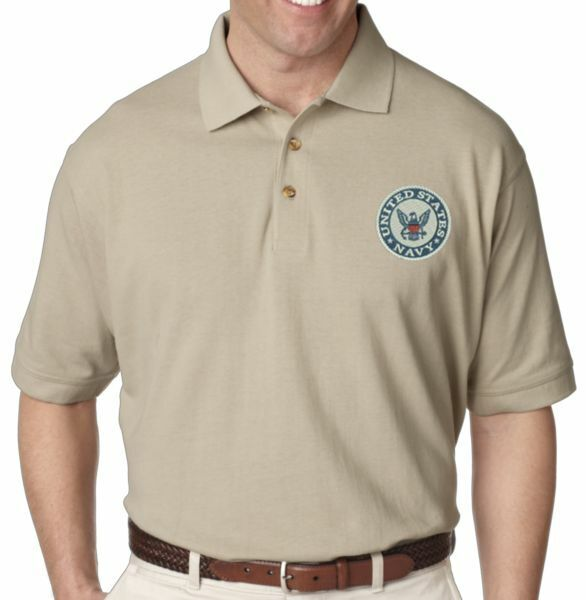 US NAVY SEAL Retired Embroidered Polo Shirt
