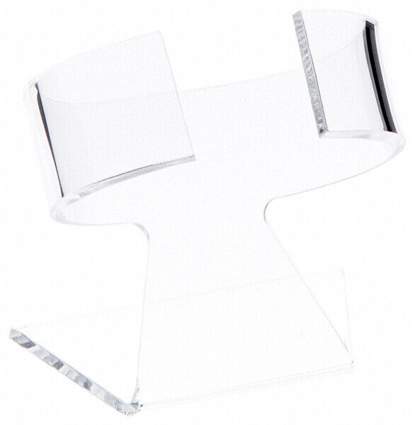 """Plymor Clear Acrylic Watch Display Stand, 2.75"""" W x 2"""" D x 3"""" H (2 Pack)"""