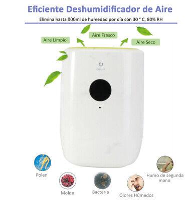 Deshumidificador de Aire Eléctrico Silencioso Auto-Apaga 800 ml/día,depósito 15㎡