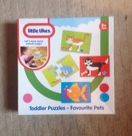LITTLE TIKES TODDLER PUZZLE. FAVOURITE PETS. 5, 4, 3 AND 2 PIECE PUZZLES