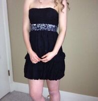 Looking for a cute but inexpensive black strapless dress?