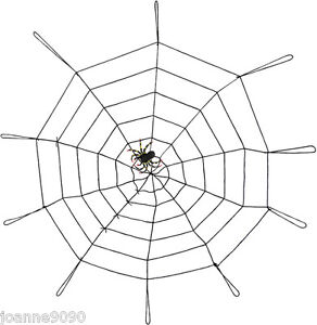 ... INDOOR-OR-OUTDOOR-GIANT-NYLON-BLACK-SPIDERS-WEB-DECORATION-WITH-SPIDER