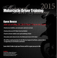 Motorcycle Driver Training Open House at Conestoga College