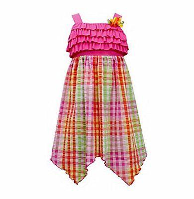 BONNIE JEAN® Little Girls 4, 6X Seersucker Check High-Low Dress NWT $42 ()