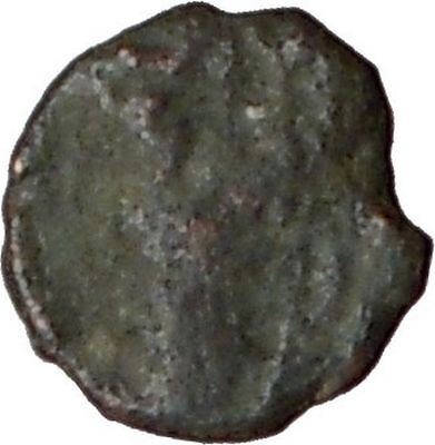 Leo I Standing  Facing  Holding Cross 457Ad Authentic Ancient Roman Coin I20731