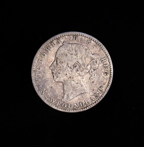 1896 Newfoundland Canada 10 Cents silver coin Victoria