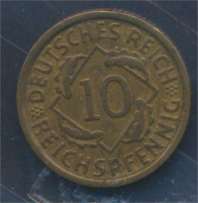 Deutsches Reich Jägernr: 317 1932 E vorzüglich 1932 10 Reichspfennig (7879748