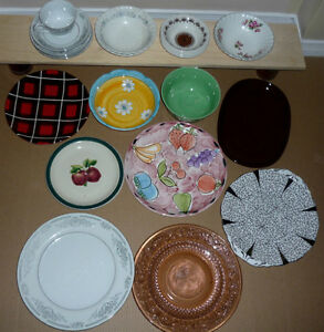 Dishes, Bowls, plates : as shown