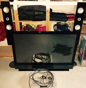 50' LG TV WITH DVD AND 2 SPEAKERS